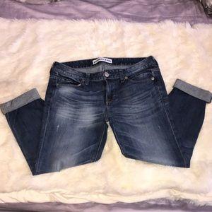 Express Low Rise Ankle Boyfriend Jeans